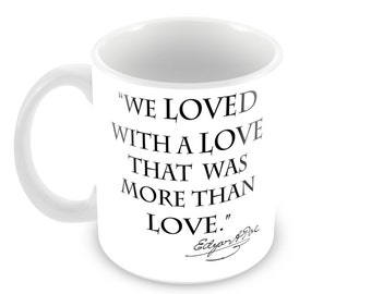 Poe Annabel Lee Ceramic Mug with Quote and Signature