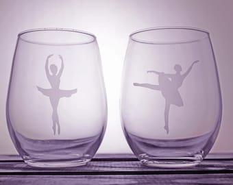 Ballerina Glasses - Glassware - Wine - Pint - Pilsner - Dance Life - Dancer - Gift Ideas - Gifts for Her - Personalized - Customized - art