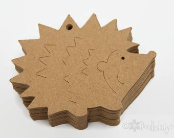 X24 Hedgehog gift tags craft labels party favor tags