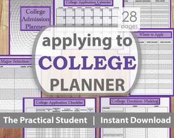 College Application Planner, College Planning, College Planner, College Student Planner, Student Planner, High School Planner, School Plan