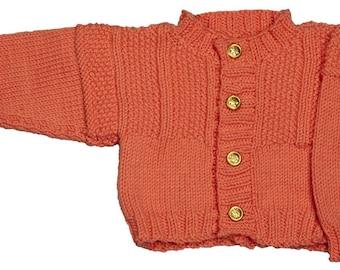 Baby Chestnut Hill Guernsey Cardigan - Knitting Pattern PDF Sweater Textured Gansey