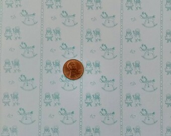 Dollhouse Miniature One Inch Scale 1:12 Wallpaper Toyland #6014