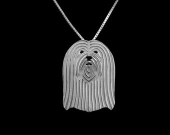 Lhasa Apso jewelry - sterling silver pendant and necklace