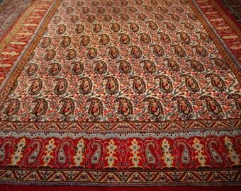 Vintage persian carpet Qum 10.7 × 6,11 ft 325 × 210 cm