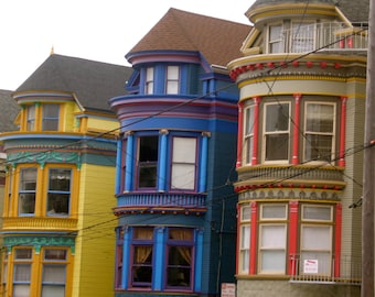 San Francisco COOL, Colorful Bay windows PHOTOgaphy