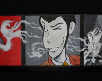 Lupin Painting on canvas wall decor home decor personalized painting handmade made in Italy handmade painting gift