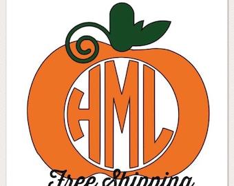 Fall Pumpkin Monogram!!