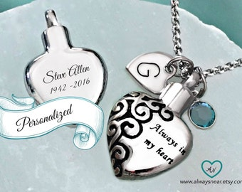 Heart urn pendant cremation jewelry ashes necklace memorial jewelry ashes necklace heart urn pendant cremation necklace memorial urn mozeypictures Image collections