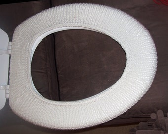 Knitted Toilet Seat Cover, elonaged, keeps you warm