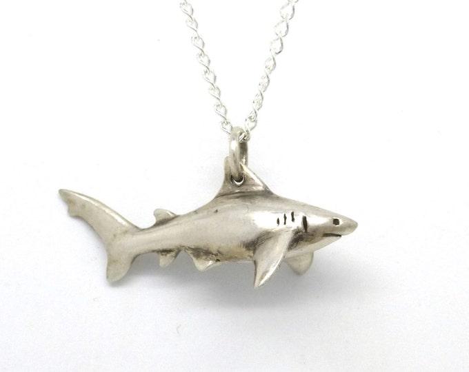 Pet Shark Necklace- Silver Toy Shark Pendant