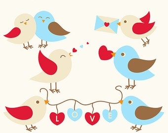Love Birds Layered Vectors ~ Clipart ~ Clip Art ~ Digital Graphics ~ Scrapbooking ~ Crafts ~ Commercial Use
