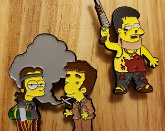 The Simpsons X Pineapple Express Pin Set.