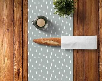 45 colors Minimalist Table Runner, Rain Table Runner Decor, Scandinavian Table Runner, Lake Kitchen, Scandinavian Decor, Grey Table Runner