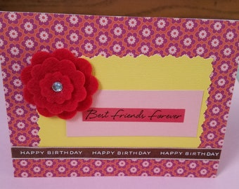 Best Friends Forever Birthday Greeting Card