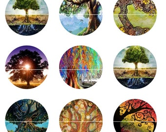 Trees of Life Pins Magnets Fridge Magnets Work Space Decor Wedding Favors Gift Sets Party Favors