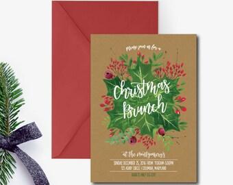 christmas brunch invitations
