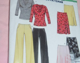 New Look 6101  Misses Top Skirt and Pants Sewing Pattern UNCUT - Size XS - XL