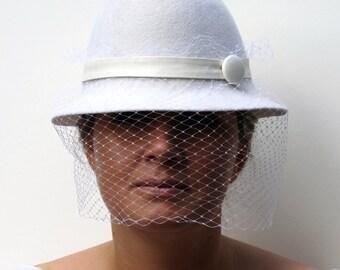 Wool Felt Cloche Hat 'Irina'