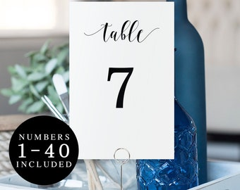 Rustic wedding table numbers Instant download DIY Table numbers downloadable Wedding table number cards Simple wedding DIY table decor #vm31