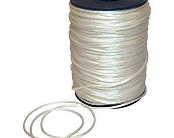 """CLEARANCE! - 1/8"""" Morex White Satin Cord - 144YDS - 1 Roll Left"""