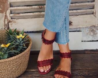 NEW COLOR!! MIDSUMMER. Boho leather sandals / barefoot leather sandals / women shoes / boho shoes / barefoot sandals