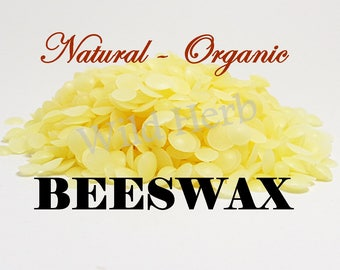 YELLOW ORGANIC BEESWAX Natural Pearls (Sweet Honey Pastilles / Pellets) 8 oz. size