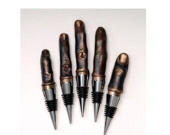 Hand of the Artist Cast Bronze Finger Wine Stopper (ONE finger)