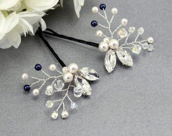 Wedding hair piece pins Bridal pins Wedding hair accessories Bridesmaids bobby pins Bridesmaids hair pins Flower pins Rhinestone pins veil