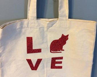 For the love of cats tote
