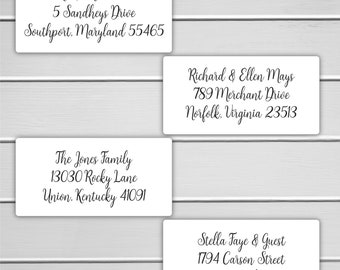 Mail To Wedding Address Labels, To: Wedding Address labels, Deliver To Address Stickers, Casual Calligraphy Replacement (#657-MT)