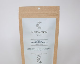 Materna-Tea 3 For the Third Trimester with Raspberry Leaf | ORGANIC | Small Batch, Hand Blended | New Moon Tea Co.