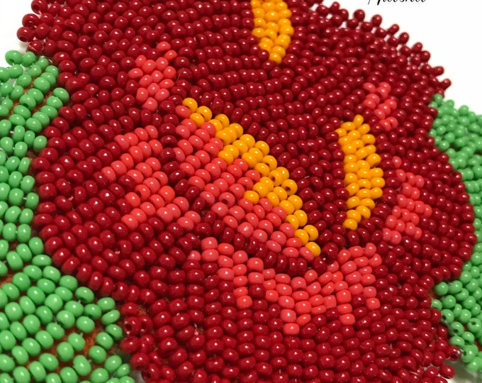 "Alaska Handmade Beaded Rose-3"" L x 4"" W in Czech Glass Beads"