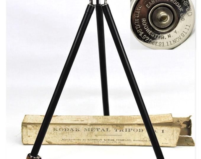 Antique 1911 Eastman Kodak Telescoping Tripod with Original Box