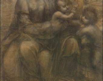 Poster, Many Sizes Available; The Virgin And Child With Saint Anne And Saint John The Baptist By Leonardo Da Vinci C1499
