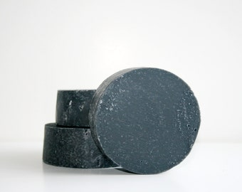 The Puck - Charcoal Shaving Soap  Bar - Essential Oil Soap - All Natural Shaving Soap