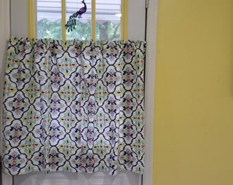 Cafe Curtains, Kitchen Curtains,  Window Curtains, Printed Cafe Curtains.