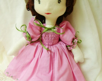 Audrey, a Waldorf inspired, Victorian dressed doll
