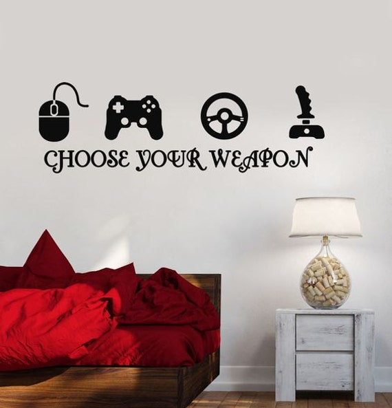Game Decal, Gamer Decor, wall decal, kids Bedroom Decal, kids Wall Art, Minecraft Wall Art, Xbox, PS4, Boy Minecraft Gift, girl gamer decal