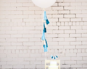 Balloon Tassels: Shades of Blue
