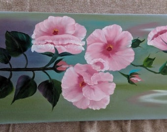 Flower Painting - Pink