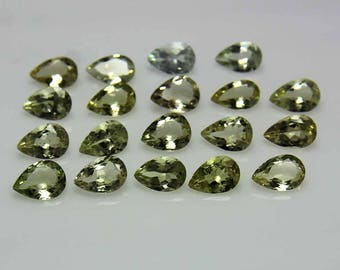 6x9MM, Natural light Green Aquamarine Gemstones Lot,Natural March birthstone, AAA++ Top Quality, Pear Shape Faceted Loose Gemstone.