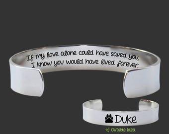 Pet Memory Bracelet | Bereavement Gifts | Condolence Gift | Dog Memorial Gift | Cat Memorial Gift | Personalized Gifts | Korena Loves