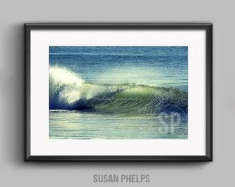 Coastal Wave fine art photographic print. 20 x 30 cm.
