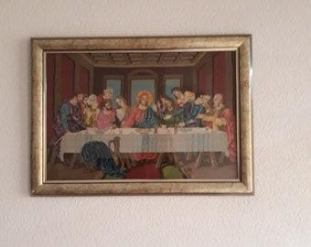 "Hand made goblein ""The secret dinner"" after Leonardo da Vinci."