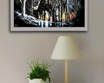 Searching For You watercolor print, Teen print, Teen art, Teen decor,