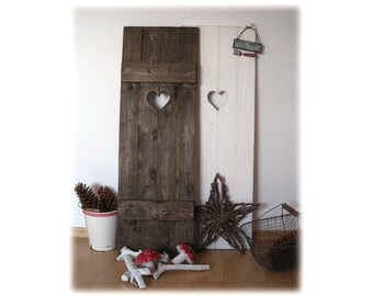 Window loading with heart, shabby chic, vintage