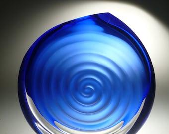 Czech art glass vase, signed