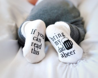 Baby Shower Gift, Unisex Baby Shower Gift, Baby Socks,  Beer Gifts, Baby Gift, Gift for Baby, Gifts for Dad, Gifts for Him, Baby Clothes
