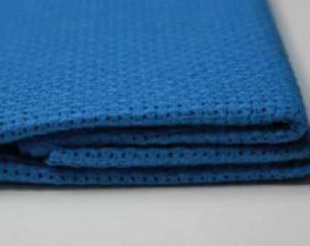1 Pcs Blue Cotton Aida 11, 14, 16 ct 50 x 50cm