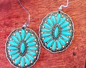 Desert Flower Sterling Silver Earrings